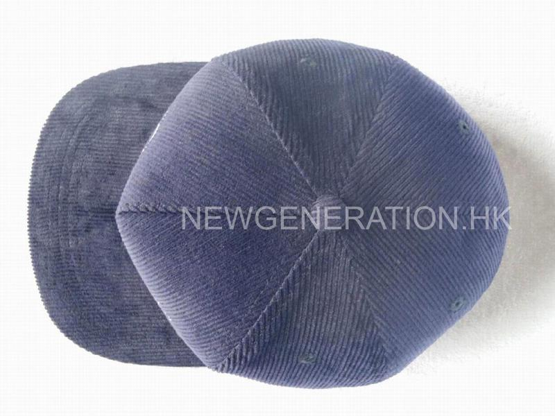 Corduroy Cap With Flat Embroidery4