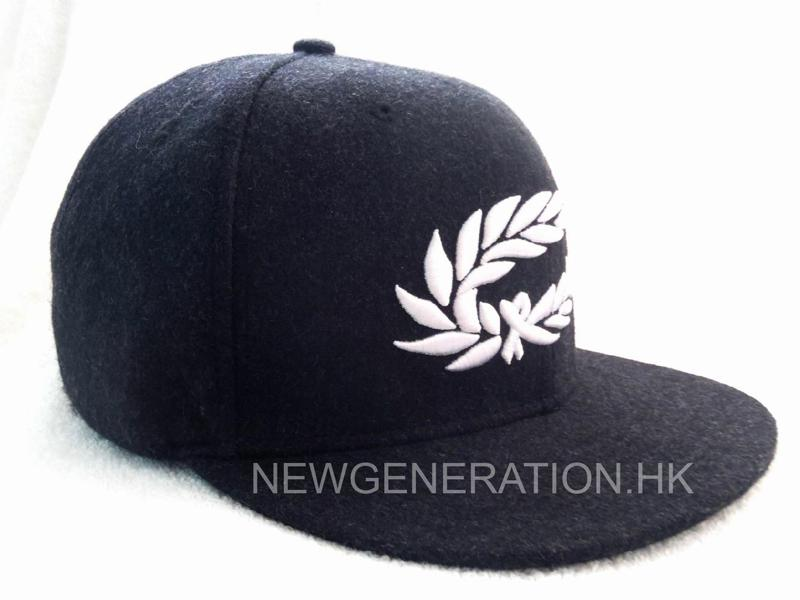 Melton Wool Cap With 3d Embroidery1