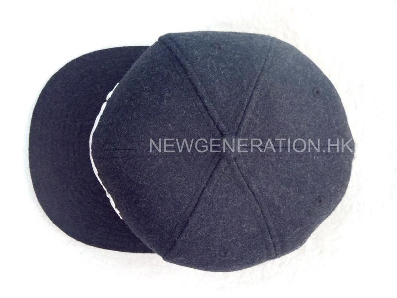 Melton Wool Cap With 3d Embroidery3