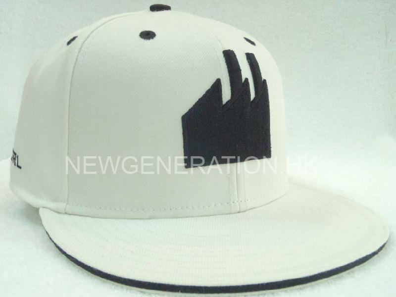 Acrylic Fitted Cap With 3D Embroidery