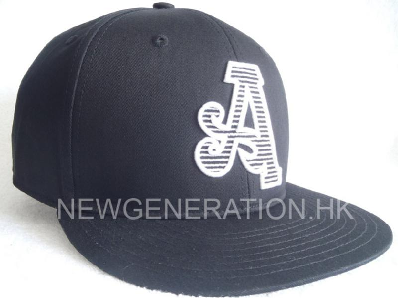 Cotton Snapback Cap With 3D Embroidery
