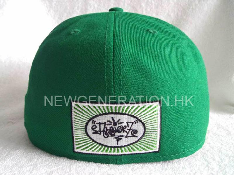 Acrylic Fitted Cap With Flat Embroidery5
