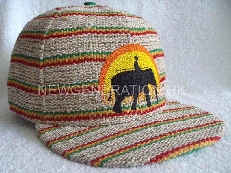 Hemp Fitted Cap With Flat Embroidery1