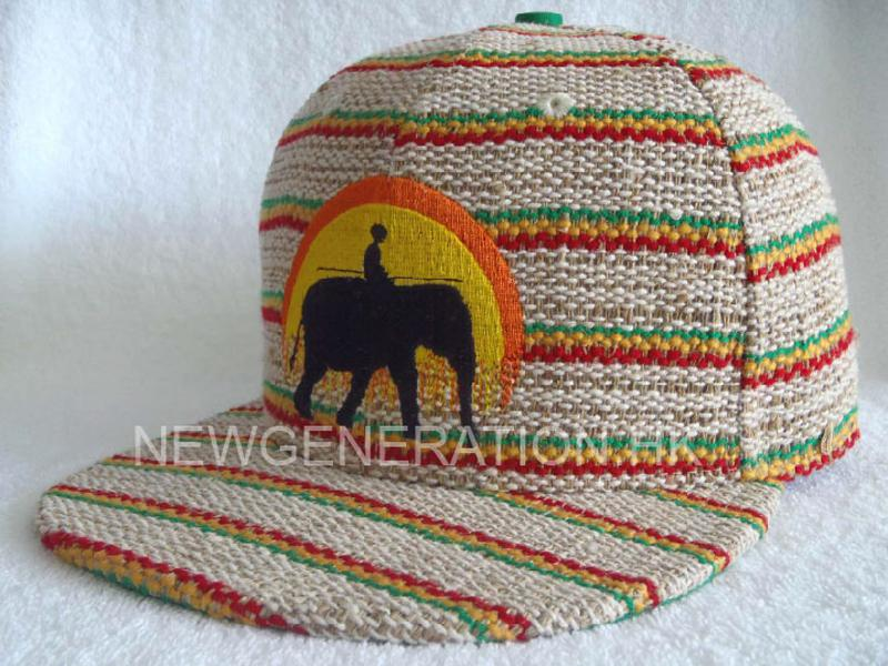 Hemp Fitted Cap With Flat Embroidery2
