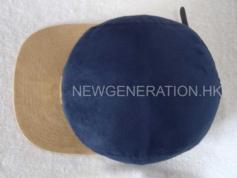Suede 5 Panel Camp Cap With Pu Leather Patch3