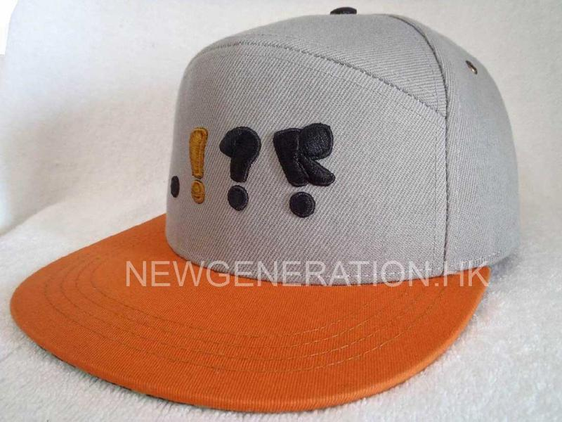 5 Panel High Profile Snapback Cap With 3d Embroidery2