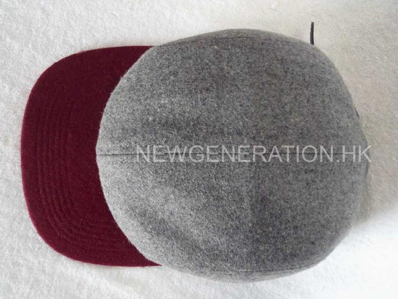 Hairy Wool 5 Panel Camp Cap With Pu Deboss Leather Patch4