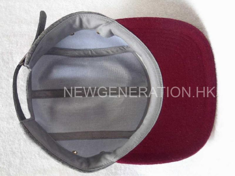 Hairy Wool 5 Panel Camp Cap With Pu Deboss Leather Patch6