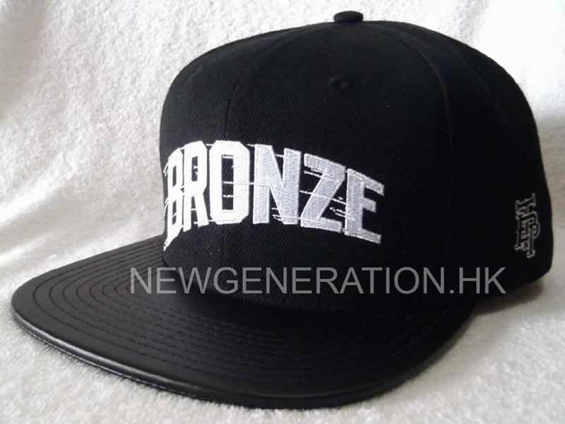 Acrylic Snapback Cap With Flat Embroidery And Leather Brim2