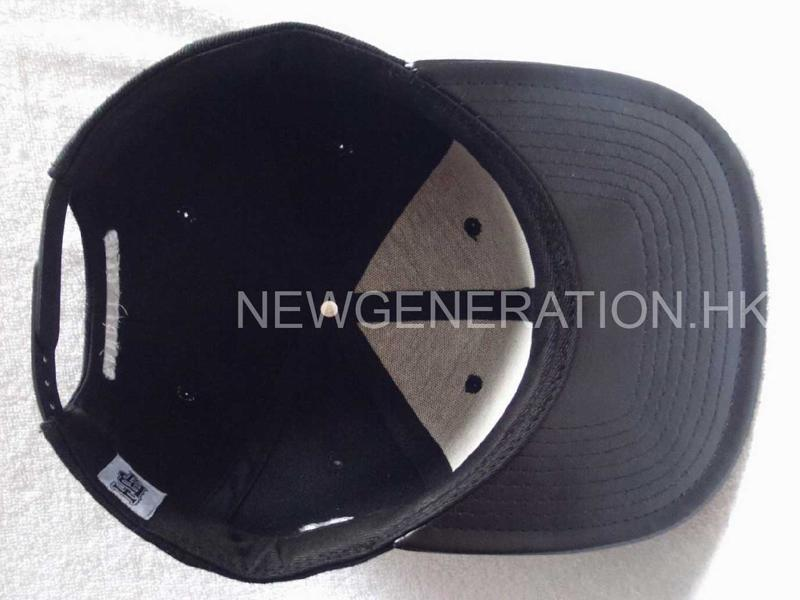 Acrylic Snapback Cap With Flat Embroidery And Leather Brim6
