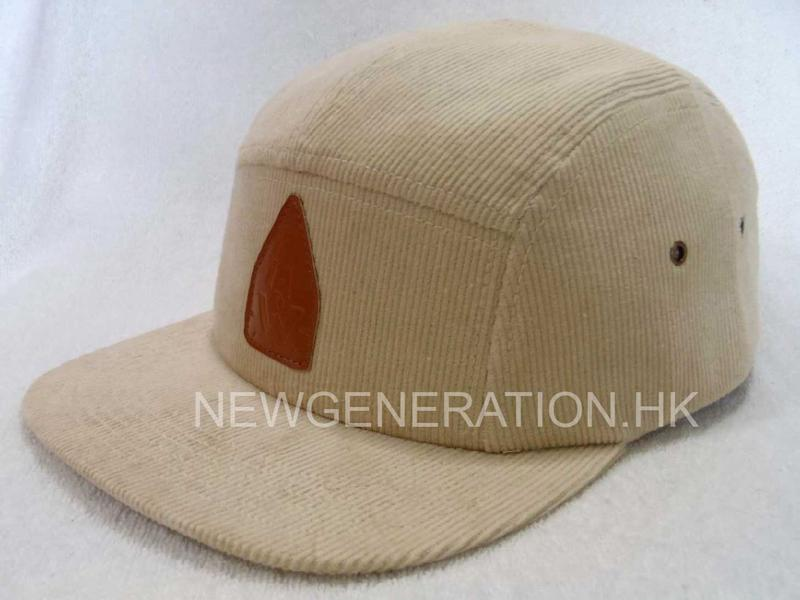 Corduroy Camp Cap With Pu Deboss Leather Patch2