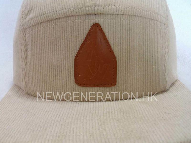 Corduroy Camp Cap With Pu Deboss Leather Patch3