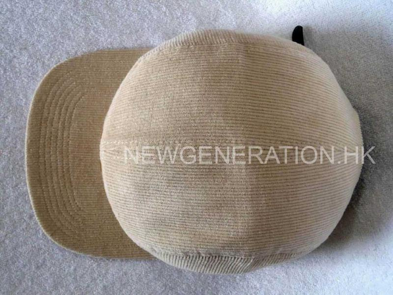 Corduroy Camp Cap With Pu Deboss Leather Patch4
