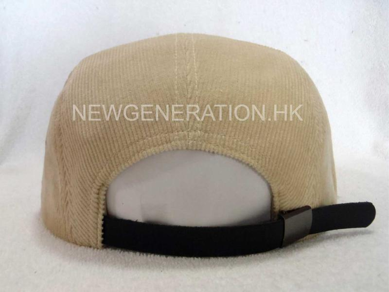 Corduroy Camp Cap With Pu Deboss Leather Patch5