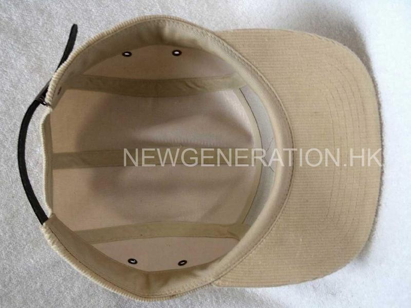 Corduroy Camp Cap With Pu Deboss Leather Patch6