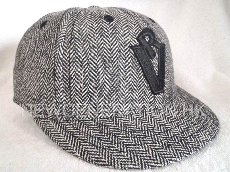 Herringbone Fitted Short Brim Cap With 3d Embroidery1