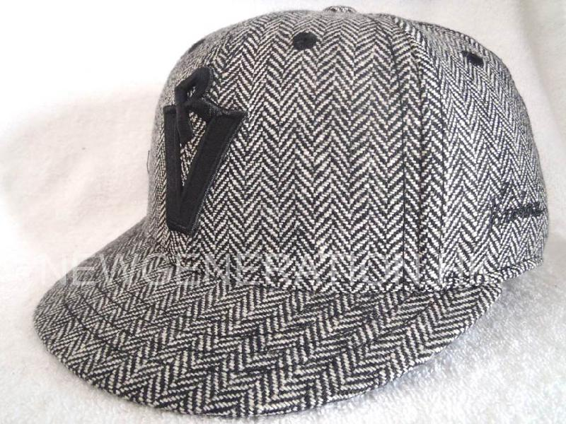 Herringbone Fitted Short Brim Cap With 3d Embroidery2