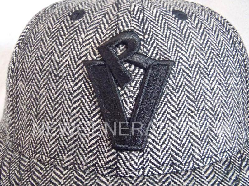 Herringbone Fitted Short Brim Cap With 3d Embroidery3