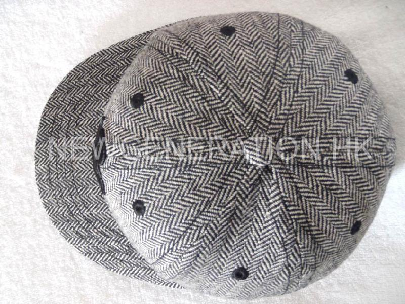 Herringbone Fitted Short Brim Cap With 3d Embroidery4