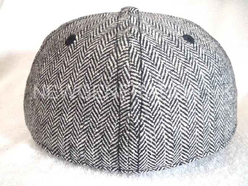 Herringbone Fitted Short Brim Cap With 3d Embroidery5