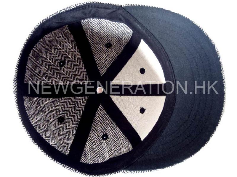 Herringbone Fitted Short Brim Cap With 3d Embroidery6