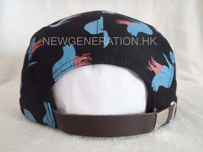 Polyester 5 Panel Camp Cap With Print Pattern4