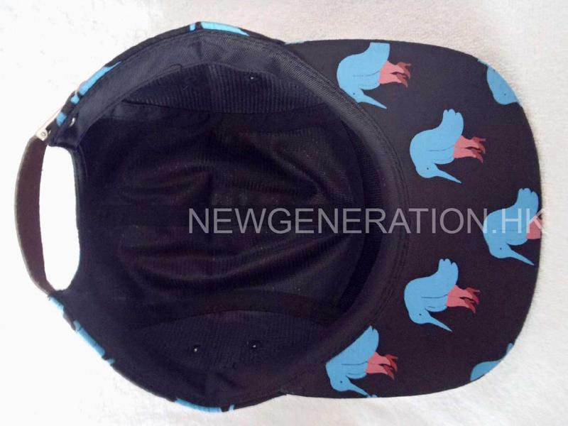 Polyester 5 Panel Camp Cap With Print Pattern5
