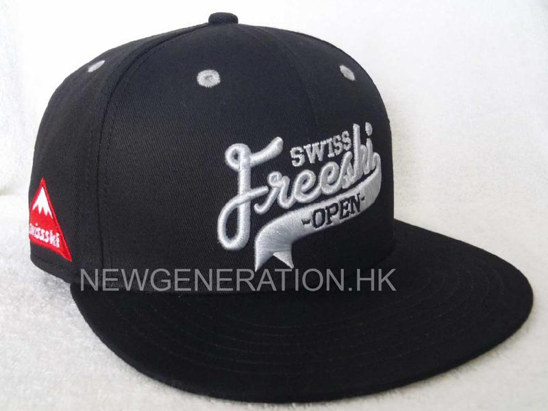 Cotton 6 Panel Snapback Cap With 3D Embroidery Front Logo