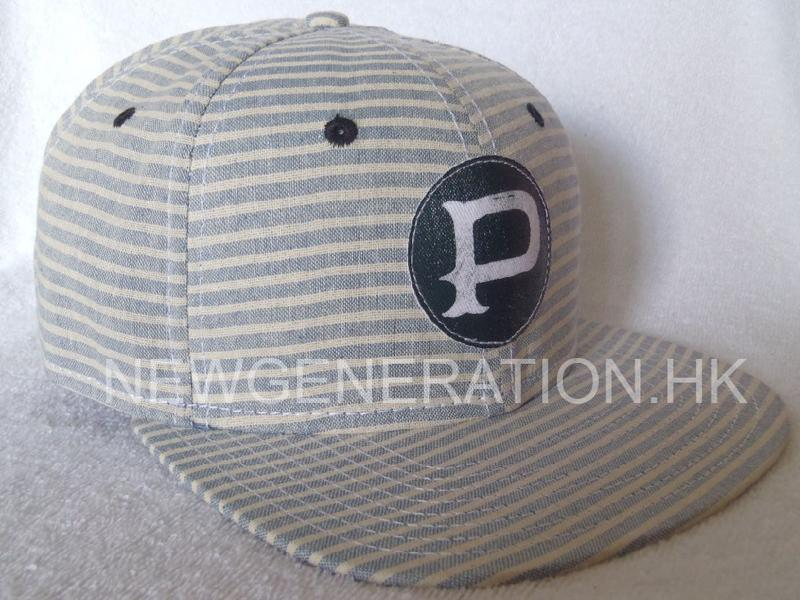 Cotton 6 Panel Snapback Cap With Print Patch