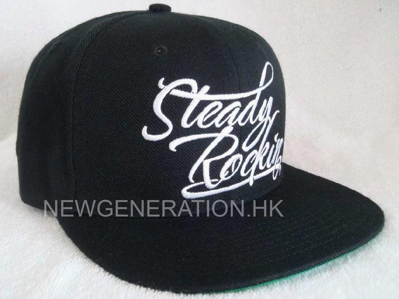 Acrylic Snapback Cap With Flat Embroidery Front Logo