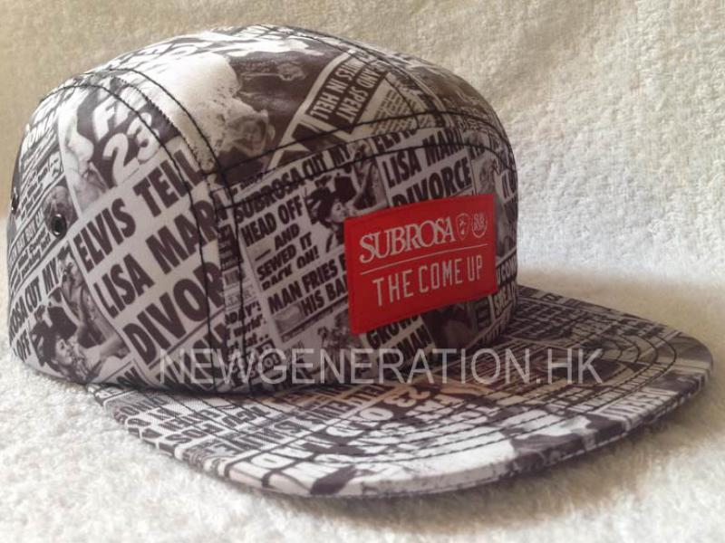 Sublimation Print Camp Cap With Woven Label