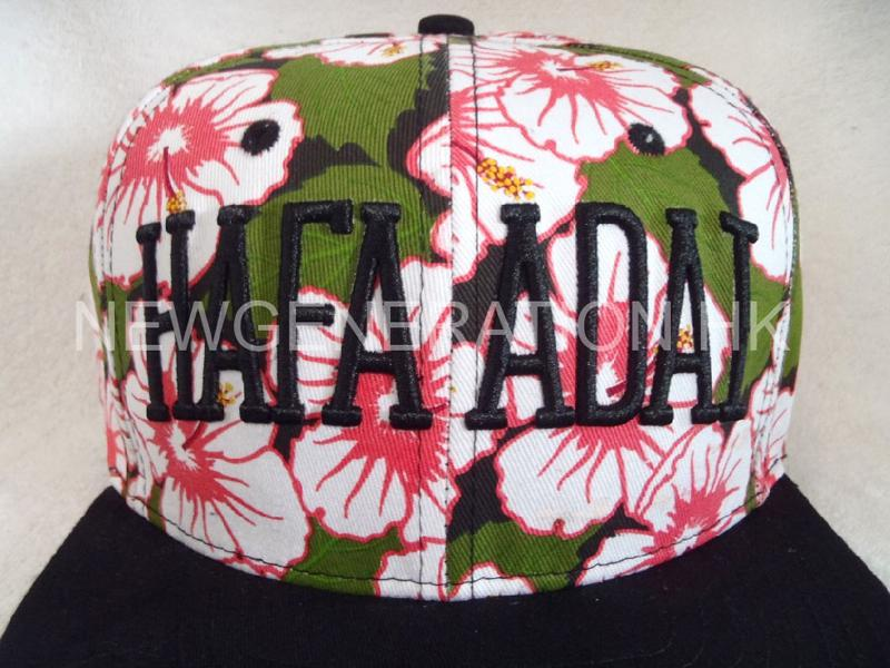 Waterbase Print Floral Snapback Cap With 3d Embroidery Logo3