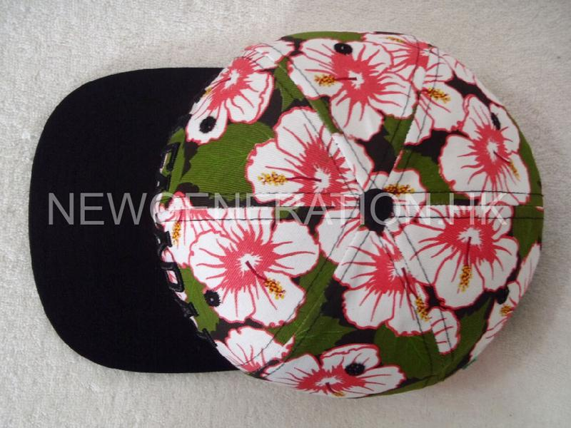 Waterbase Print Floral Snapback Cap With 3d Embroidery Logo4