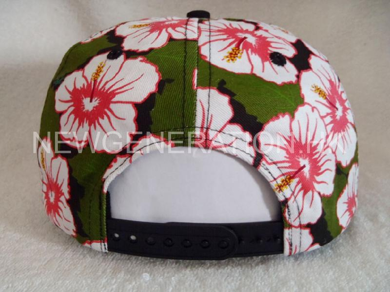 Waterbase Print Floral Snapback Cap With 3d Embroidery Logo6