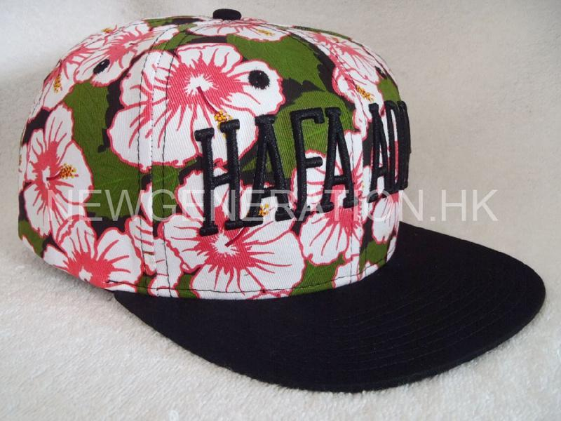 Waterbase Print Floral Snapback Cap With 3D Embroidery Logo