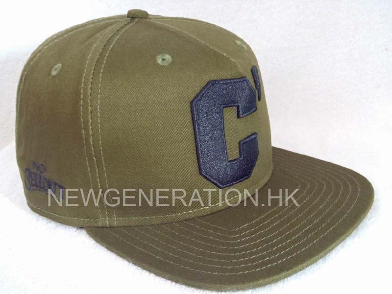 Cotton Snapback Cap With 3D Embroidery Logo
