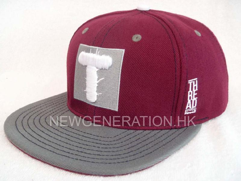 Acrylic Snapback Cap With Flat Embroidery Logo2