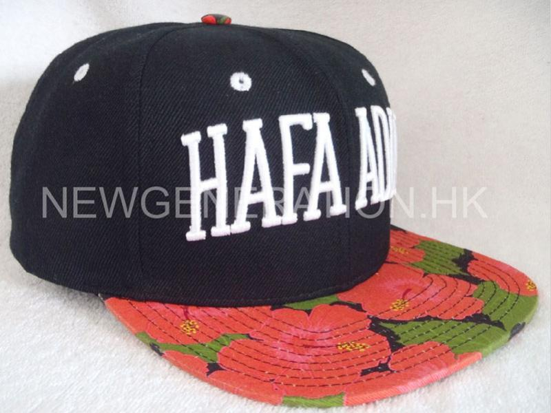 Water Based Print Flower Pattern Snapback Cap With 3d Emb1
