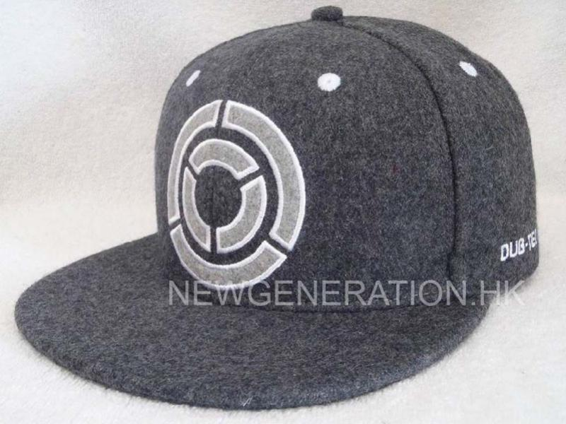 Hair Wool Snapback Cap With Embroidery Logo2