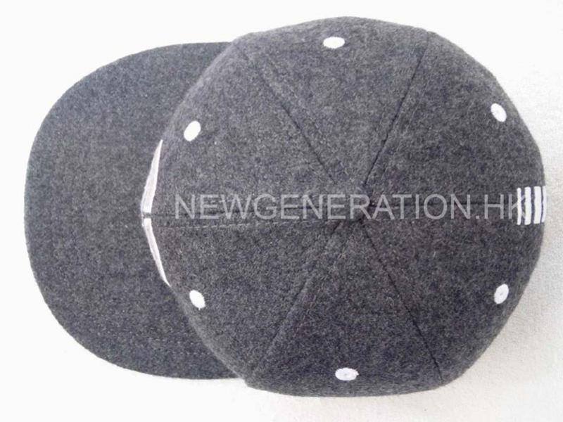 Hair Wool Snapback Cap With Embroidery Logo4