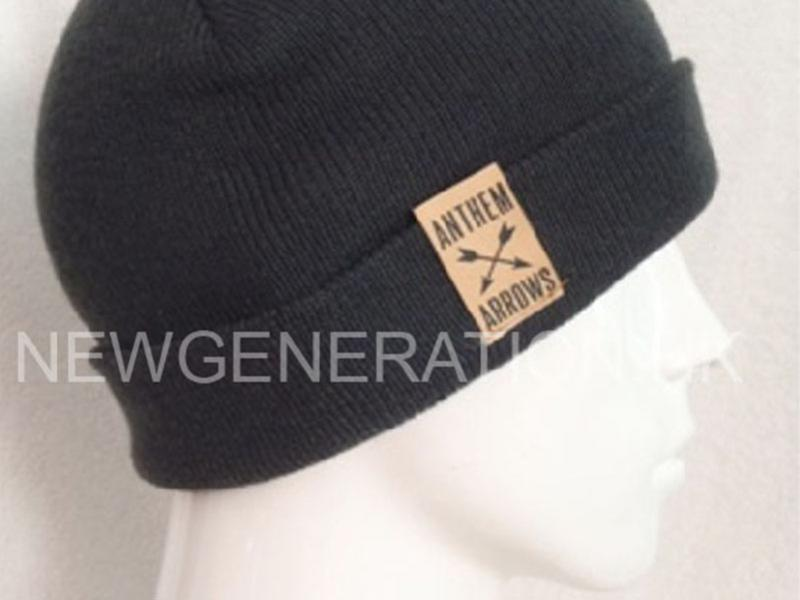 Acrylic Beanie With Woven Label2