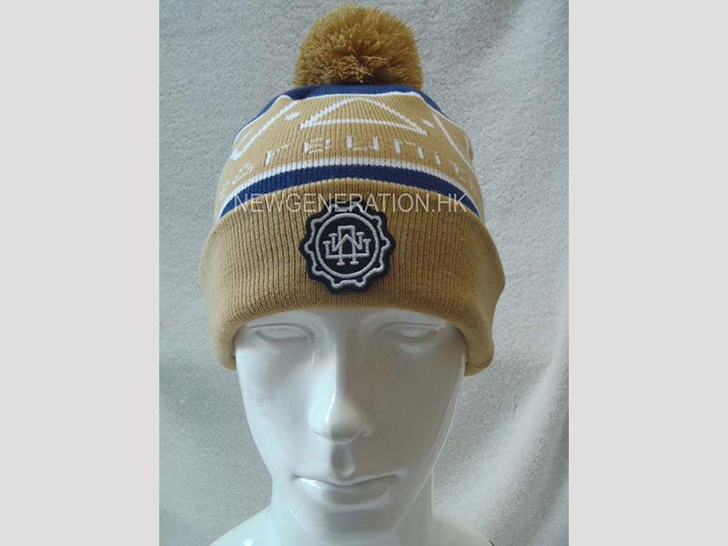 Jacquard Acrylic Beanie With Emb Patch1