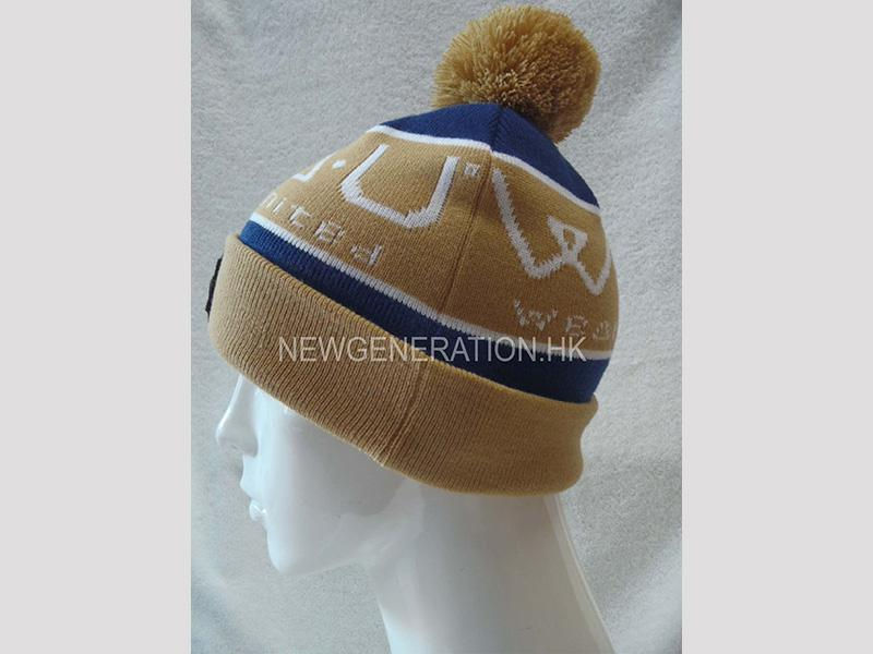 Jacquard Acrylic Beanie With Emb Patch2