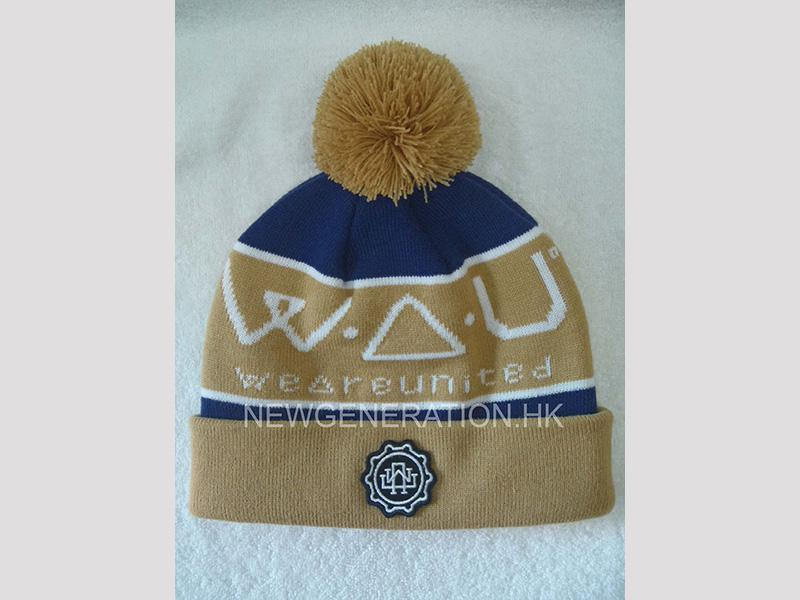 Jacquard Acrylic Beanie With Emb Patch5