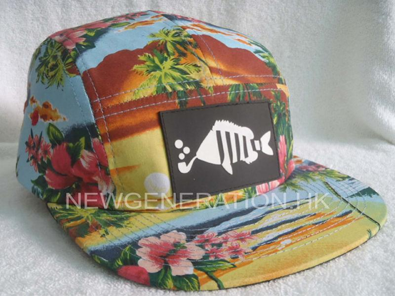 5 Panel Hat With Rubber Patch