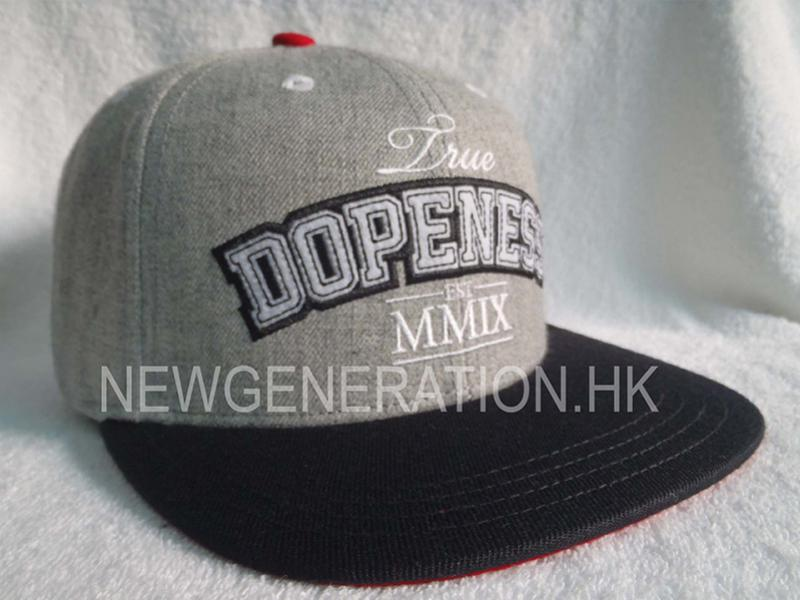 Wool Blend Snapback Cap With Chenille Embroidery1