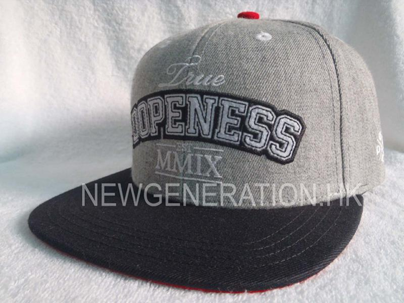 Wool Blend Snapback Cap With Chenille Embroidery2