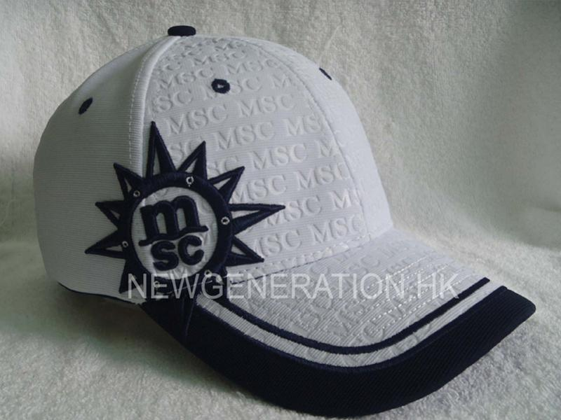 Embossed Ottoman Fabric Baseball Cap With 3d Embroidery1