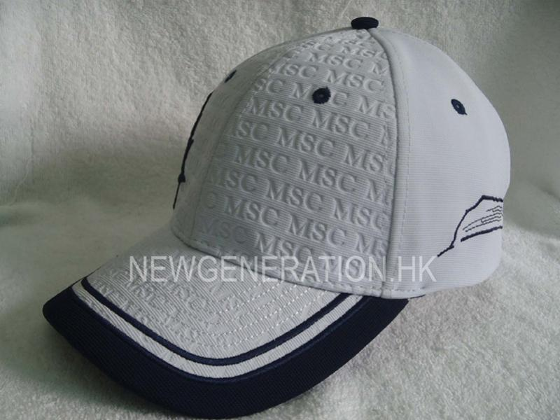 Embossed Ottoman Fabric Baseball Cap With 3d Embroidery2