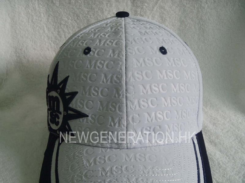 Embossed Ottoman Fabric Baseball Cap With 3d Embroidery5
